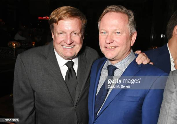 Ron Burkle and Nick Jones attend the launch of The Ned London on April 26 2017 in London England