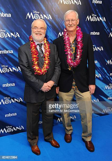 Ron Clements and John Musker attend the UK Gala screening of 'MOANA' at BAFTA on November 20 2016 in London England