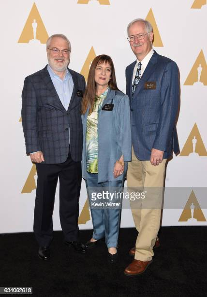 Ron Clements Osnat Shurer and John Musker attend the 89th Annual Academy Awards Nominee Luncheon at The Beverly Hilton Hotel on February 6 2017 in...