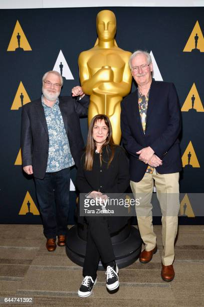 Ron Clements Osnat Shurer and John Musker nominated for their film 'Moana' arrive to the 89th Annual Academy Awards Oscar Week reception for films in...