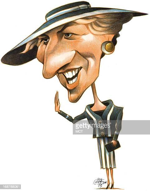 Ron Coddington caricature of Britain's Princess Diana