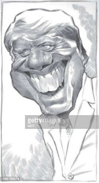 Ron Coddington caricature of former US President Jimmy Carter