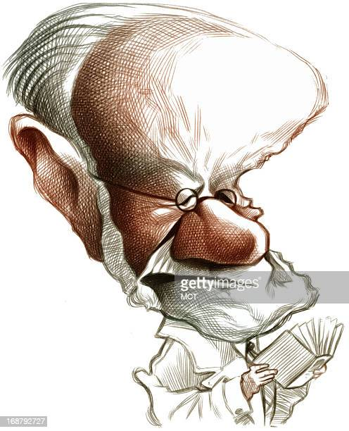 Ron Coddington caricature of psychiatrist Sigmund Freud