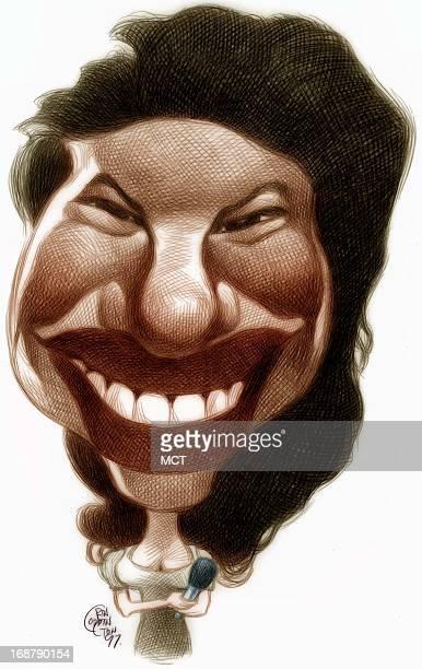 Ron Coddington caricature of Selena