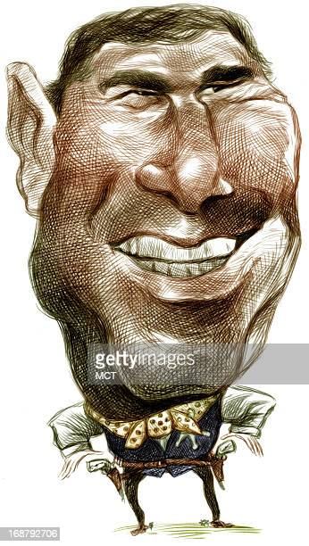 Ron Coddington caricature of US politician George W Bush