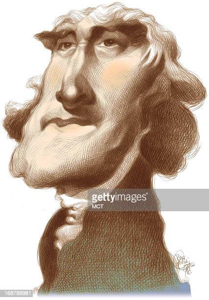 Ron Coddington caricature of US president Thomas Jefferson