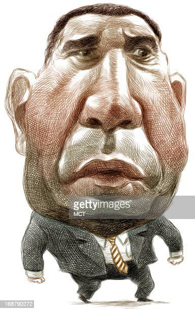 Ron Coddington color caricature of Kentucky Wildcats basketball head coach Tubby Smith