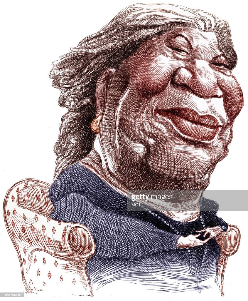 Ron Coddington color caricature of Nobel prize-winning author Toni Morrison. Her seventh book, 'Paradise,' has recently been published.