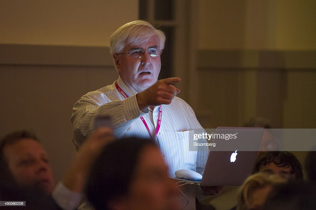Ron Conway, founder of SV Angel, confronts Chamath Palihapitiya, managing partner and founder of The Social+Capital Partnership, not pictured, at the Bloomberg Next Big Thing Summit in Sausalito, California, U.S., on Monday, June 9, 2014. The conference convenes tech's most important entrepreneurs, investors, and innovators for a discussion about what makes great tech leaders, successful companies, and disruptive products. Photographer: David Paul Morris/Bloomberg via Getty Images