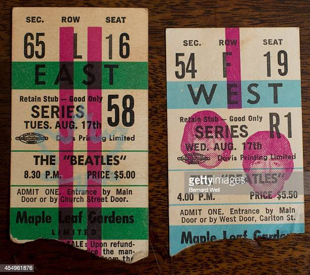 Ron Demers holds Beatles concert tickets from the 1965 and 1966 concerts at Maple Leaf Gardens Demers went to all three Beatles concerted in Toronto