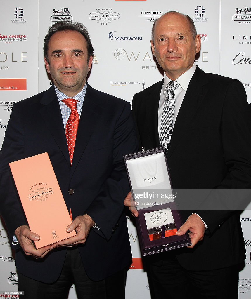 <a gi-track='captionPersonalityLinkClicked' href=/galleries/search?phrase=Ron+Dennis&family=editorial&specificpeople=210506 ng-click='$event.stopPropagation()'>Ron Dennis</a> (R) and Anthony Sheriff of McLaren Automotive pose with the British Luxury Brand Award at the Walpole Awards of Excellence 2011 at Banqueting House on November 14, 2011 in London, England.