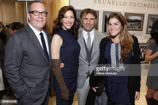 Ron Frasch Brunello Cucinelli Melba Ruffo Di Calabria and guest attend BRUNELLO CUCINELLI And SAKS FIFTH AVENUE Event In Support of HENRY STREET...