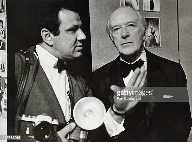 Ron Galella and Cecil Beaton during Cecil Beaton Exhibition January 1 1970 at Metropolitan Museum of Art in New York City New York United States