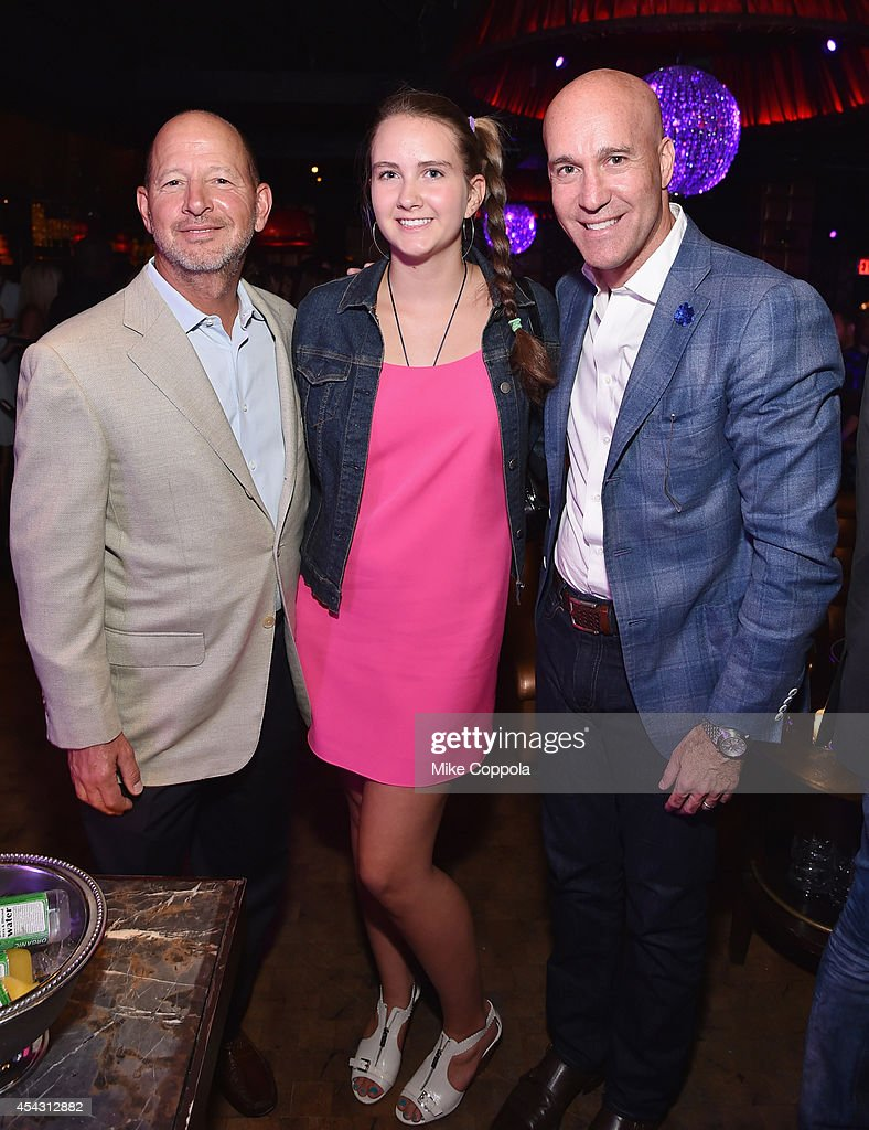 Ron Galotti, Abigail Galotti and Marc Bergen attend DuJour Magazine's Jason Binn celebrating Kendall and Kylie Jenner's Bruce Weber shoot presented by Juice Press at Lavo Restaurant on August 28, 2014 in New York City.