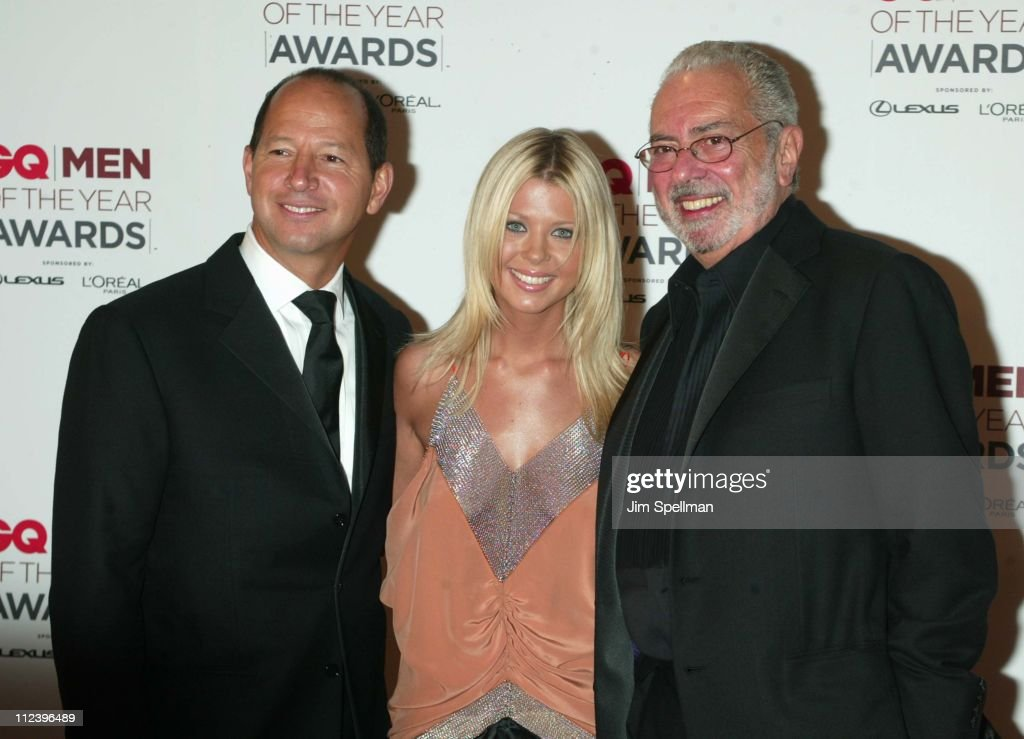 Ron Galotti, vice-president/publisher of GQ, Tara Reid and Arthur Cooper, editor-in-chief of GQ Magazine