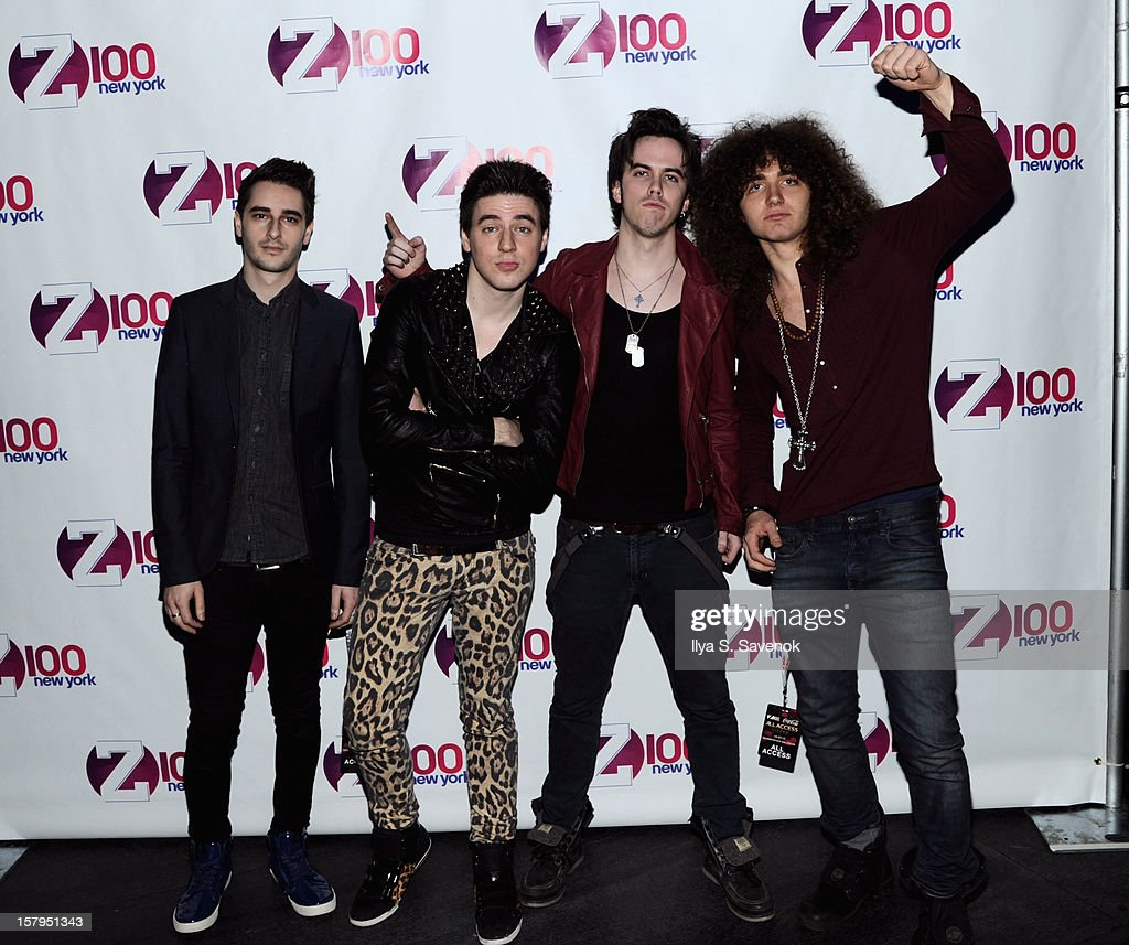 Ron Geffen, Austin Massirman, Pat Heraghty, and Andre Jevnik of The All Ways attend Z100's Jingle Ball 2012, presented by Aeropostale, at Madison Square Garden on December 7, 2012 in New York City.