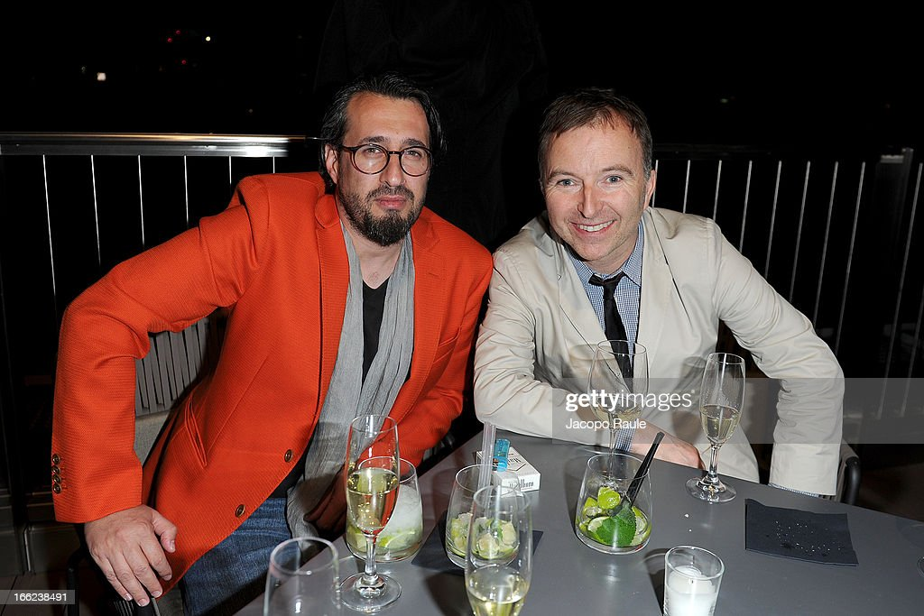 Ron Gilad and Tony Chambers attend Ron Gilad for Molteni&C and Salvatore Ferragamo - 2013 Milan Design Week on April 10, 2013 in Milan, Italy.