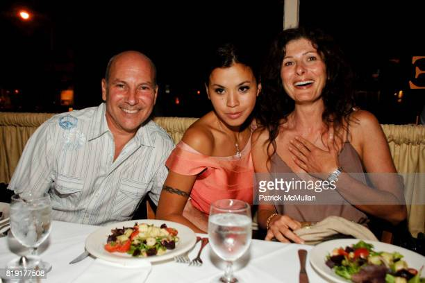Ron Glickman Athena Romaine and Tancie Trail attend After Party for the Hamptons Screening of 'GREAT DIRECTORS' at Paradise Cafe on July 5 2010 in...