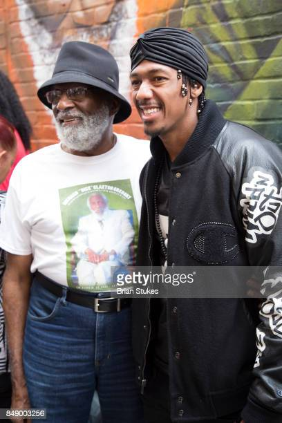 Ron Gregory and Nick Cannon attend Dick Gregory's Parade Of Life at The Legendary Howard Theatre on September 17 2017 in Washington District of...