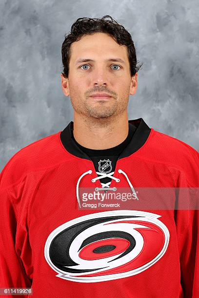 Ron Hainsey of the Carolina Hurricanes poses for his official headshot for the 20162017 season on September 22 2016 at Carolina Family Practice and...