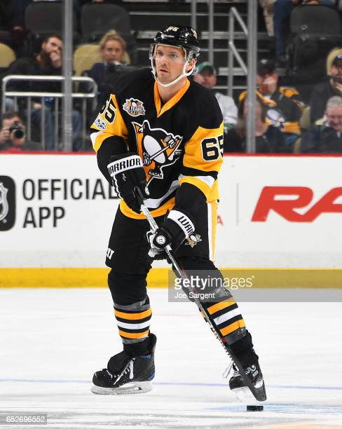 Ron Hainsey of the Pittsburgh Penguins skates against the Buffalo Sabres at PPG Paints Arena on March 5 2017 in Pittsburgh Pennsylvania