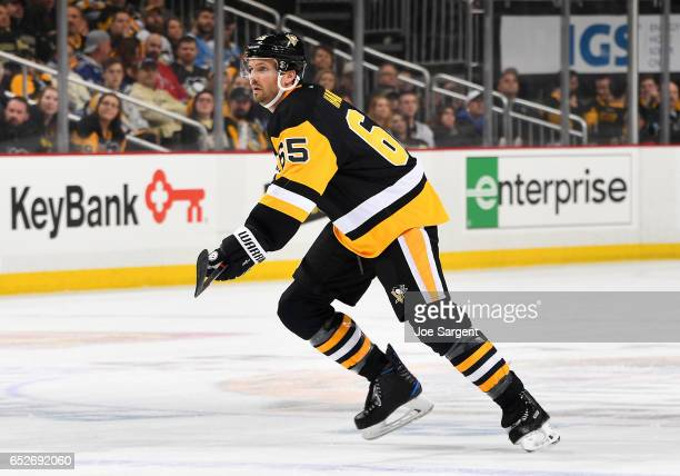 Ron Hainsey of the Pittsburgh Penguins skates against the Tampa Bay Lightning at PPG Paints Arena on March 3 2017 in Pittsburgh Pennsylvania