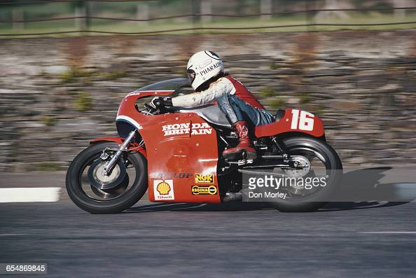 Ron Haslam of Great Britain rides the Honda during the Isle of Man TT Races on 7 June 1979 on Douglas the Isle of Man United Kingdom