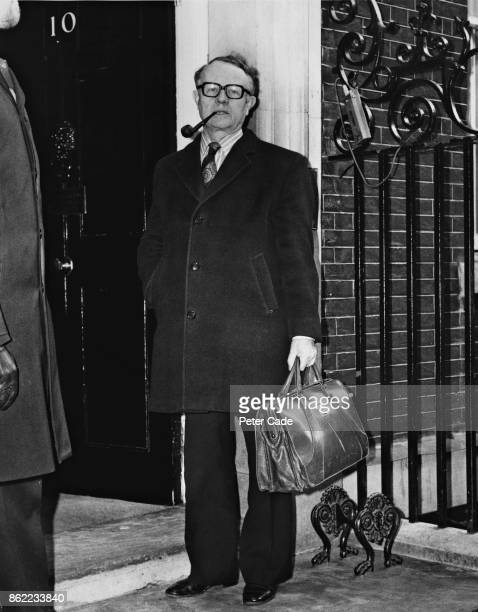 Ron Hayward General Secretary of the Labour Party arrives at 10 Downing Street in London for a joint meeting between the cabinet and the National...