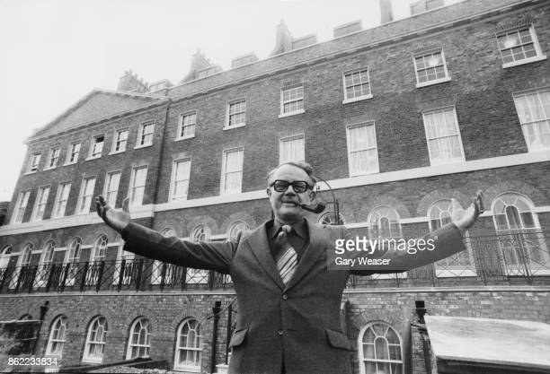 Ron Hayward General Secretary of the Labour Party outside the party's new headquarters in Walworth Road Elephant and Castle London 11th March 1980
