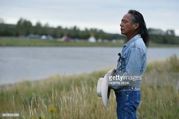 Ron His Horse Is Thunder a spokesman for the Standing Rock Sioux Tribe explains the tribe's opposition to the Dakota Access Pipeline during an...
