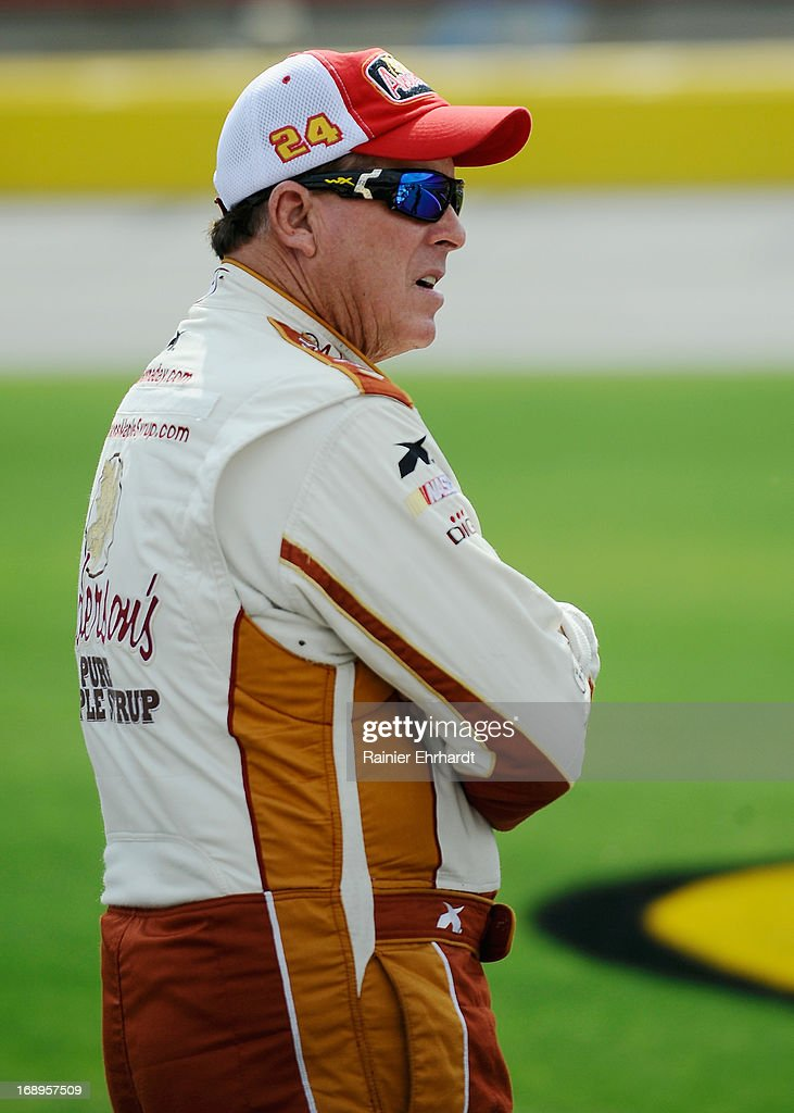Ron Hornaday Jr., driver of the #9 NTS/Piggly Wiggly Chevrolet, stands on pit road during qualifying for the NASCAR Camping World Truck Series North Carolina Education Lottery 200 at Charlotte Motor Speedway on May 17, 2013 in Concord, North Carolina.