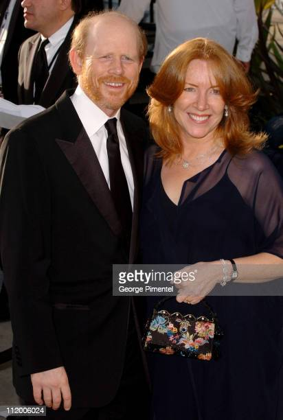 Ron Howard and Cheryl Howard during 2007 Vanity Fair Oscar Party Hosted by Graydon Carter Arrivals at Mortons in West Hollywood California United...