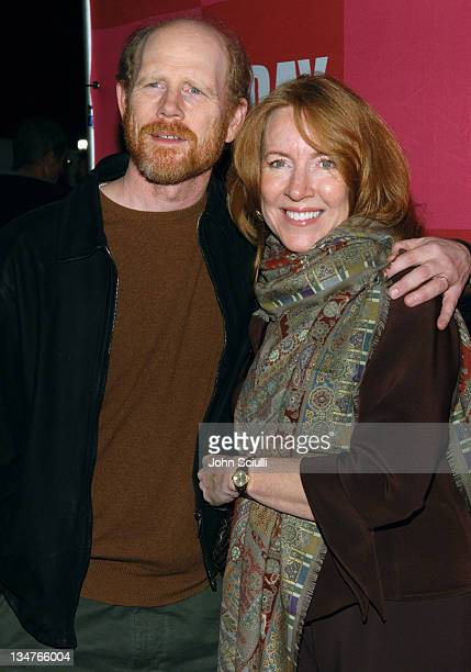 Ron Howard and Cheryl Howard during Eve Ensler's 'The Good Body' Opening Night Benefit for VDay LA 2006 Red Carpet at Wadsworth Theatre in Los...