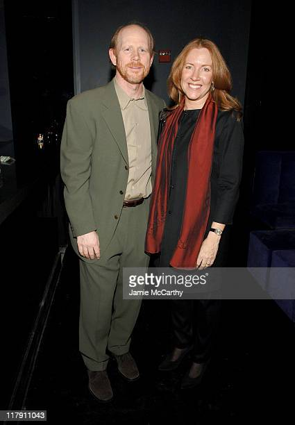 Ron Howard and Cheryl Howard during 'Miss Potter' New York City Premiere Sponsored by The New York Observer L'Oreal Paris and TMobile After Party at...
