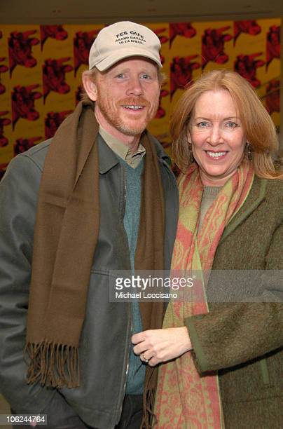 Ron Howard and Cheryl Howard during 'Miss Potter' Special Private Screening at MoMA Theatre in New York City New York United States