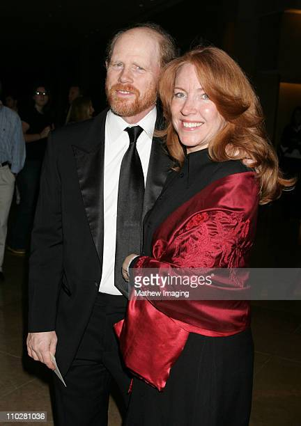 Ron Howard and Cheryl Howard during The 56th Annual ACE Eddie Awards Red Carpet at Beverly Hilton Hotel in Beverly Hills California United States