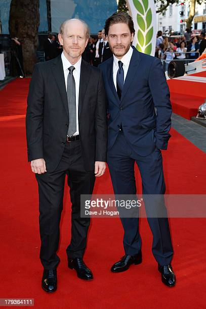 Ron Howard and Daniel Bruhl attend the 'Rush' world premiere at The Odeon Leicester Square on September 2 2013 in London England
