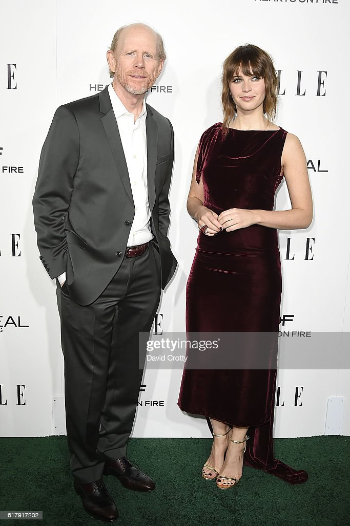 Ron Howard and Felicity Jones attend the 23rd Annual ELLE Women In Hollywood Awards - Arrivals at The Four Seasons Hotel on October 24, 2016 in Beverly Hills, California.