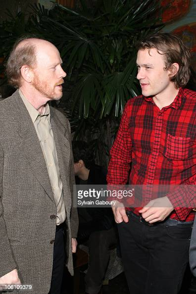 Ron Howard and Heath Ledger during The Cinema Society and Cole Haan Host the After Party for 'Candy' at Soho Grand Hotel at 310 West Broadway in New...