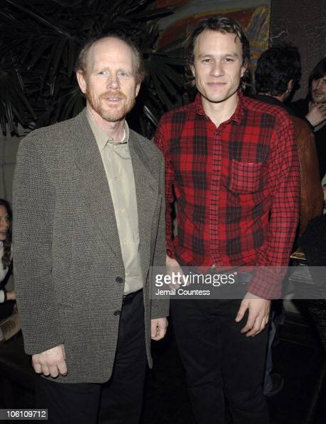 Ron Howard and Heath Ledger during The Cinema Society and Cole Haan Screening of THINKFilm's 'Candy' After Party at Soho Grand in New York City New...