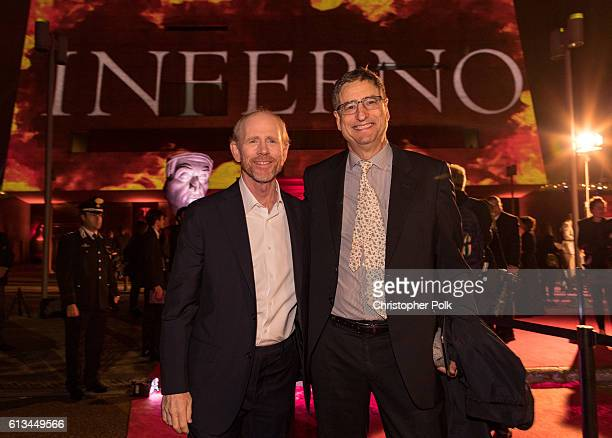 Ron Howard and Tom Rothman attend the INFERNO World Premiere Red Carpet at the Opera di Firenze on October 8 2016 in Florence Italy