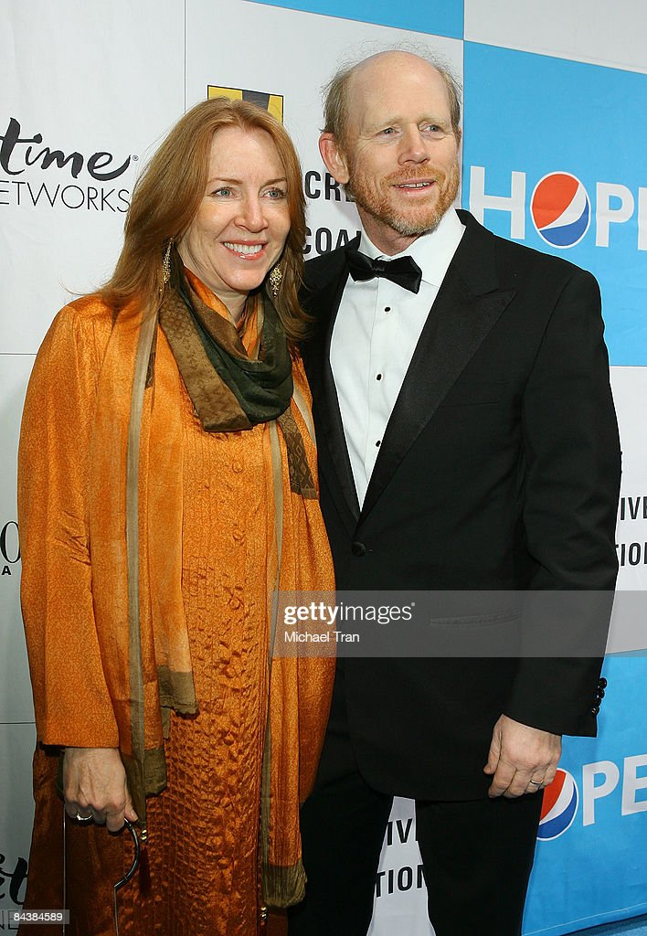 Ron Howard and wife Cheryl Howard arrive to the Creative Coalition's 2009 Inaugural Ball held at the Harman Center for the Arts on January 20 2009 in...