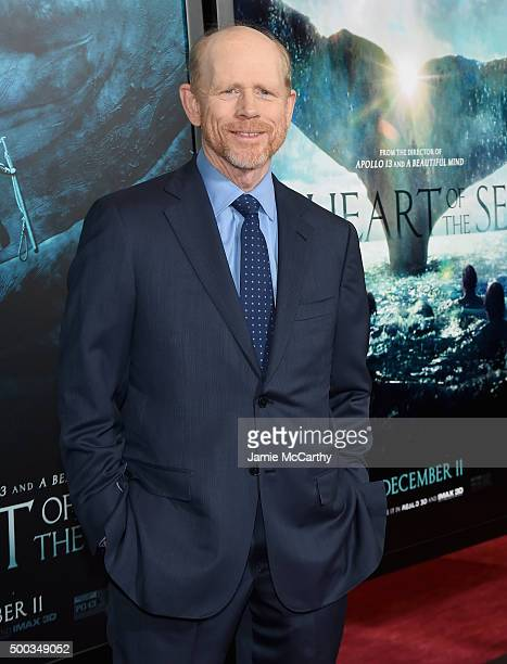 Ron Howard attends 'In The Heart Of The Sea' Premiere at Frederick P Rose Hall Jazz at Lincoln Center on December 7 2015 in New York City