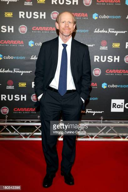 Ron Howard attends 'Rush' The Movie Rome Premiere at Auditorium della Conciliazione on September 14 2013 in Rome Italy