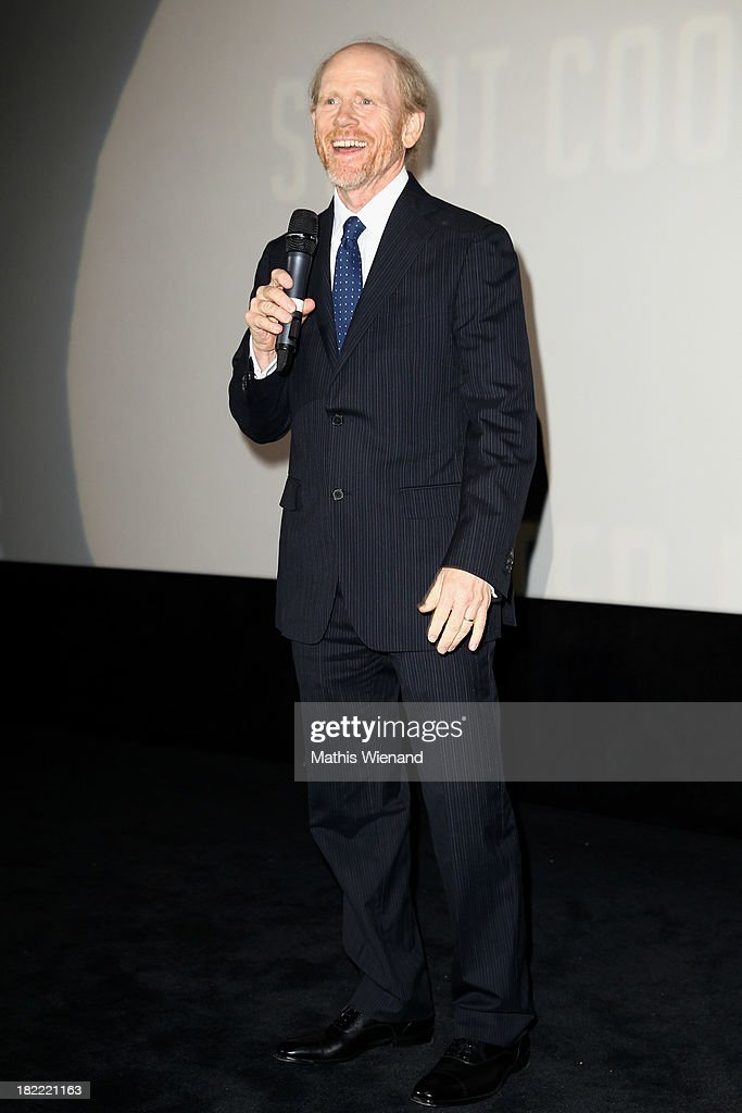 <a gi-track='captionPersonalityLinkClicked' href=/galleries/search?phrase=Ron+Howard+-+Director&family=editorial&specificpeople=201972 ng-click='$event.stopPropagation()'>Ron Howard</a> attends the German premiere of the film 'Rush' at Cinedom on September 28, 2013 in Cologne, Germany.