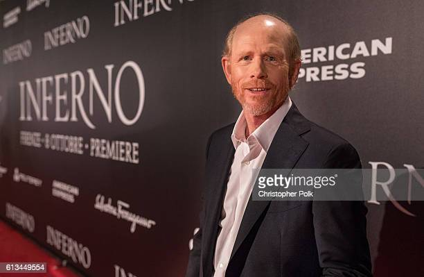 Ron Howard attends the INFERNO World Premiere Red Carpet at the Opera di Firenze on October 8 2016 in Florence Italy