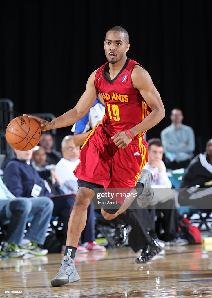 Ron Howard #19 of the Fort Wayne Mad Ants dribbles the ball against the Rio Grande Valley Vipers during the 2013 NBA D-League Showcase on January 9, 2013 at the Reno Events Center in Reno, Nevada.