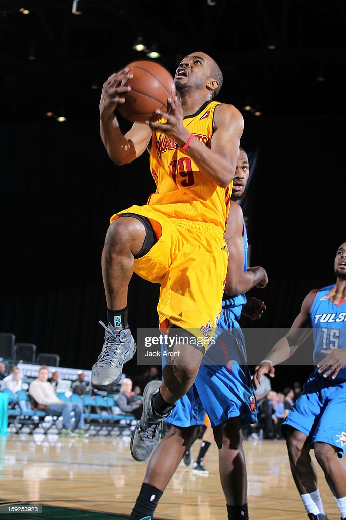 Ron Howard #19 of the Fort Wayne Mad Ants shoots the ball against the Tulsa 66ers during the 2013 NBA D-League Showcase on January 10, 2013 at the Reno Events Center in Reno, Nevada.