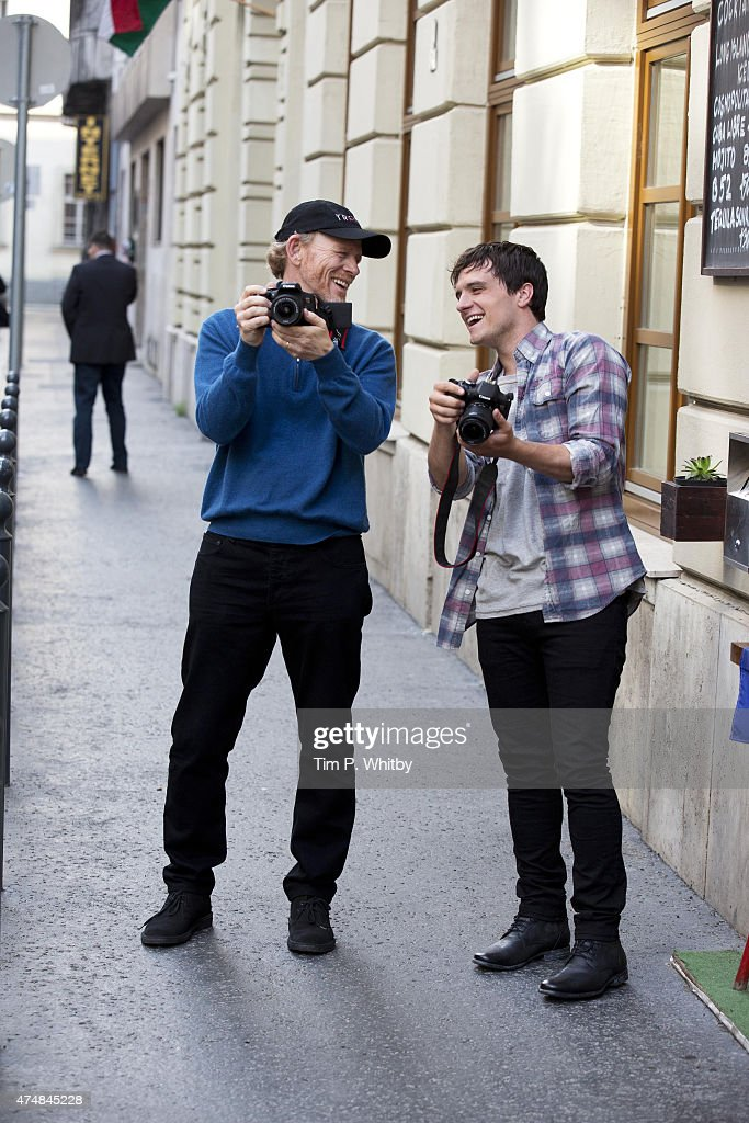 Ron Howard with Josh Hutcherson capturing his trip to Budapest while in town for Canon's Project Imagination: The Trailer on May 25, 2015 in Budapest, Hungary.