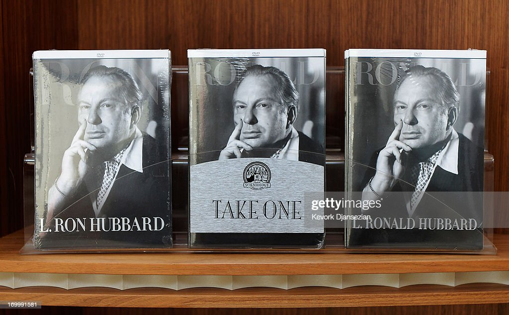 L Ron Hubbard founder of the Church of Scientology is seen on DVDs inside the Church of Scientology community center in the neighborhood of South Los...